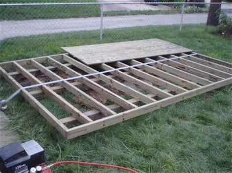 build  shed floor  shed foundation