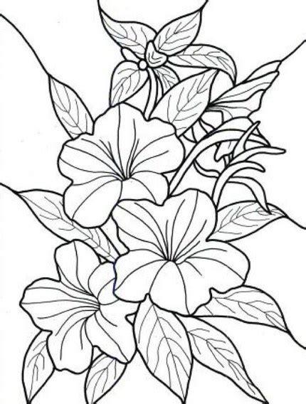 Slop Bunga Hitam sketsa bunga kamboja hitam putih bingkaigambar