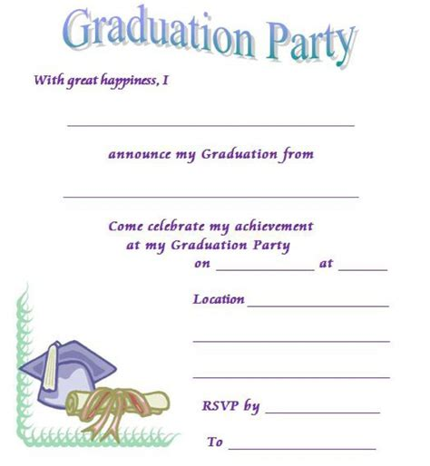 graduation rsvp card template 40 free graduation invitation templates template lab