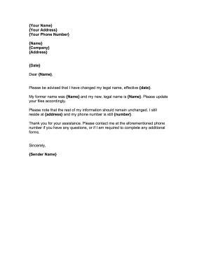 change notification letter template stolen identity