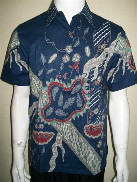 Dres Wanita Motif Abstrak Biru by Baju Batik Pria Modern Tangan Pendek Warna Biru Motif