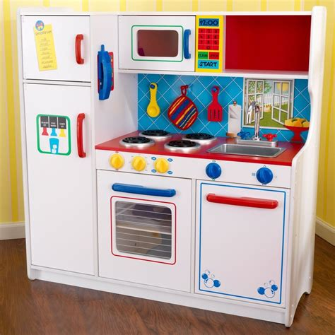 Kidkraft Play Kitchens by Kidkraft Deluxe Lets Cook Play Kitchen