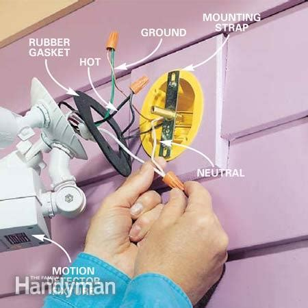 Installing An Outdoor Light How To Choose And Install Motion Detector Lighting The Family Handyman