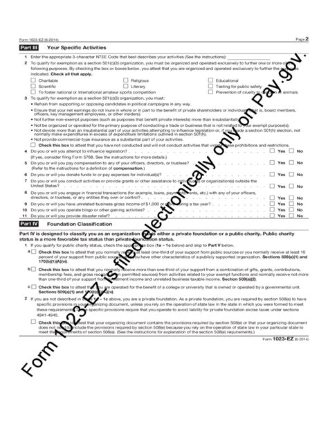 Form 1023-EZ - Streamlined Application for Recognition of ... 1023 Ez Status