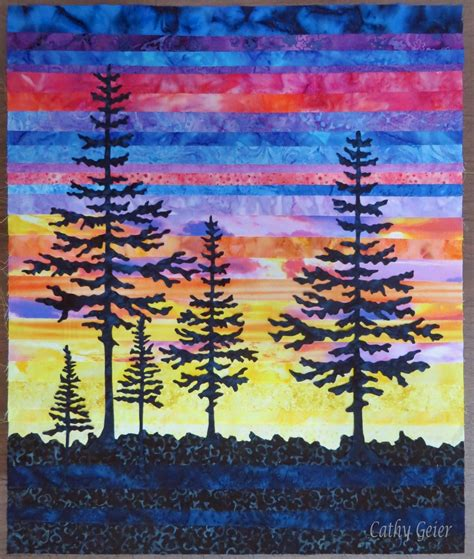 Landscape Quilting Fabric Design Cathy Geier S Quilty Last Light Project And