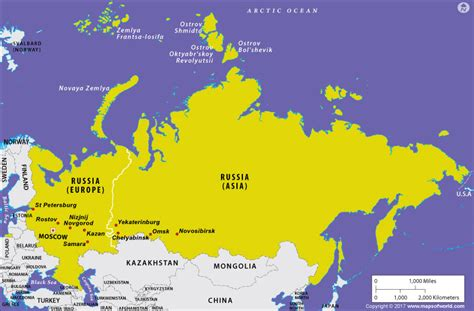 european asian map is russia in europe or in asia answers