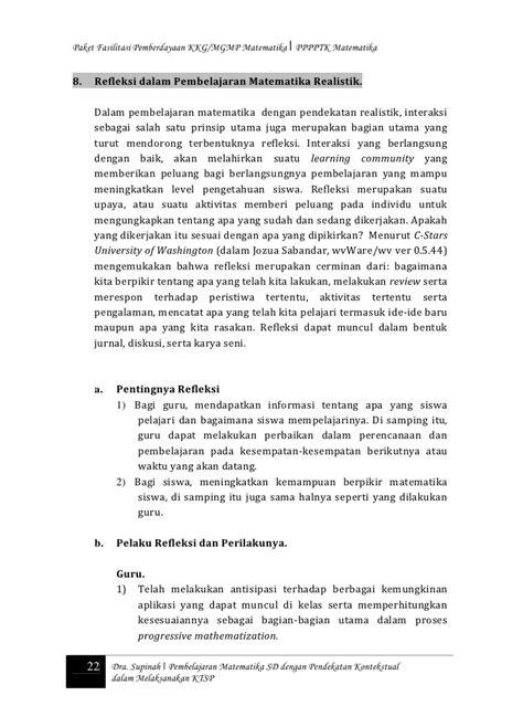 Perancanaan Dan Strategi Pembelajaram Matematika 11 pembelajaran matematika kontekstual sd ktsp supinah