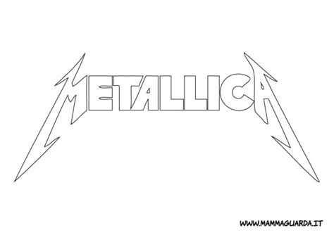 metallica logo colouring pages