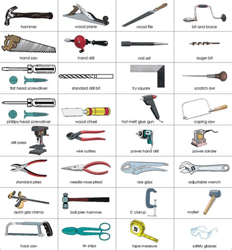 tools worksheet google search ck vocabulaire anglais