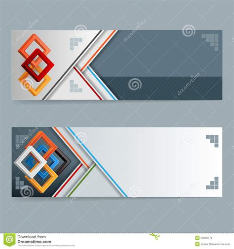 header layout abstract design web banner header layout template stock