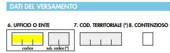 f23 codici ufficio come registrare il contratto preliminare di compravendita