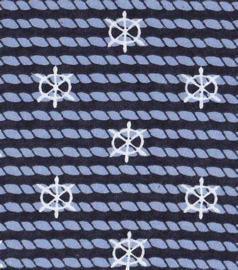 Nautical Upholstery by Nautical Fabric Rope With Anchors Flannel At Joann