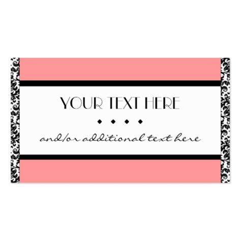 business card border template damask border zazzle
