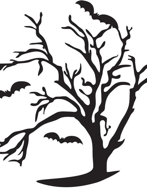 Spooky Tree Pumpkin Template spooky tree pumpkin carving stencil photos diy