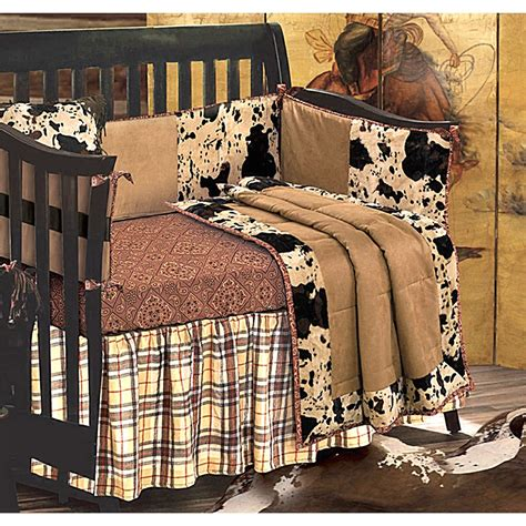 Western Baby Crib Bedding Object Moved