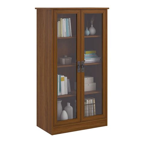 bookshelf cabinet with doors tall bookcase with glass doors in bookcases