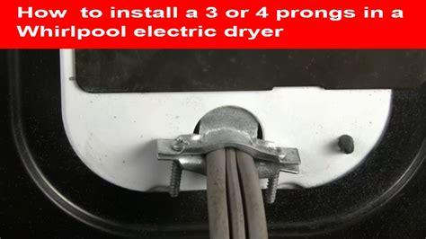 prongs whirlpool dryer power cord