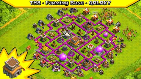 layout coc th8 clash of clans th8 farming base quot galaxy quot design best
