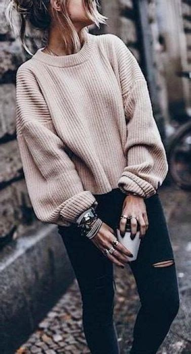 cute  cozy oversized sweater outfits society