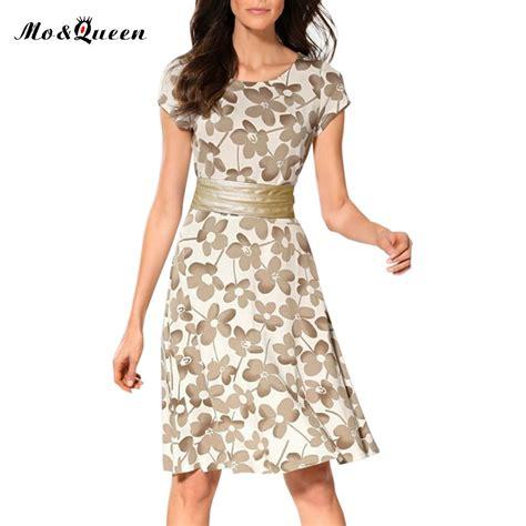 Dress Casual Santalina Fashion Wanita moqueen casual dress 2017 new fashion sleeve vintage dress o neck polyester