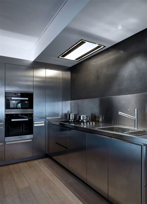 7 stainless steel kitchen cabinets with modern look everything about this kitchen is stainless steel