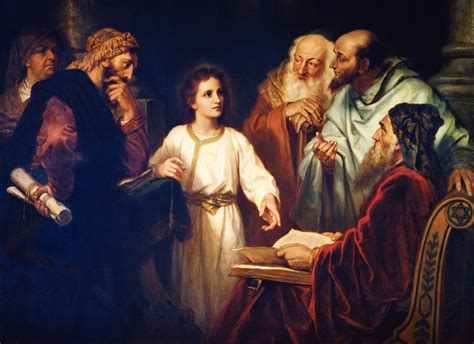 Jesus Teaching In The Temple As A Boy Coloring Page | boy jesus in the temple christ in the temple