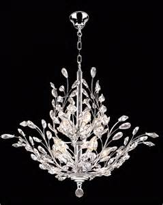 Chandelier Plastic Crystals 30 Quot Modern Pendant Crystal Chandelier Ceiling Light Ch