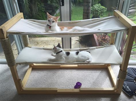 how to build bunk beds build bunk bed hammocks for your cats make