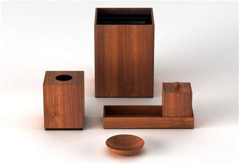 Via Motif International 187 Products 187 Teak Cube Canister Teak Wood Bathroom Accessories