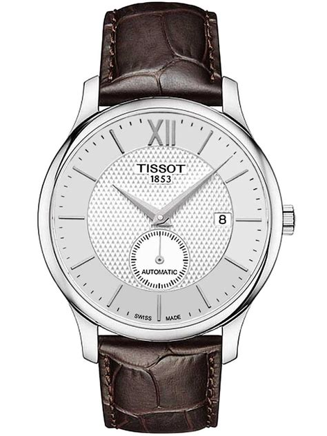 tissot mens brown leather t0634281603800