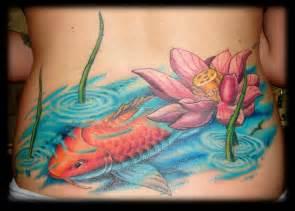 And Lotus Tattoos Lotus Flower And Koi Busbones