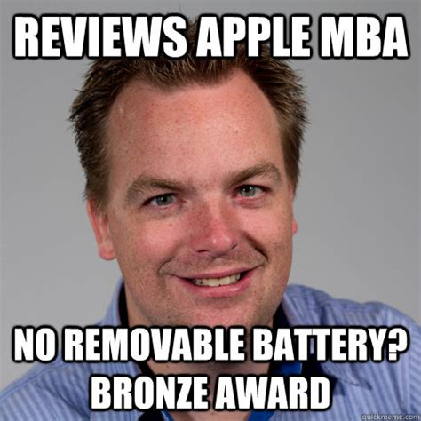 Mba Meme - reviews apple mba no removable battery bronze award