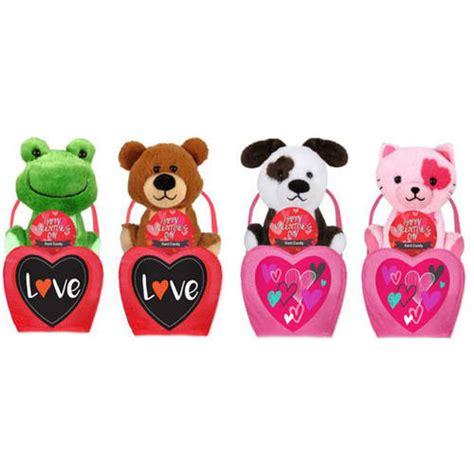 valentines day stuffed animals walmart stuffed animal gift set 3 pc