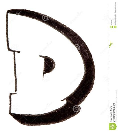 lettere d lettera d alfabeto nello stile dei graffiti fotografia