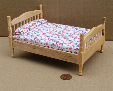 doll house bed dolls house miniature untreated wood range