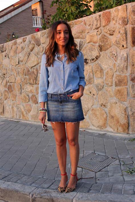 Skirt Mango Ori Murah Falda Bob denim paperblog