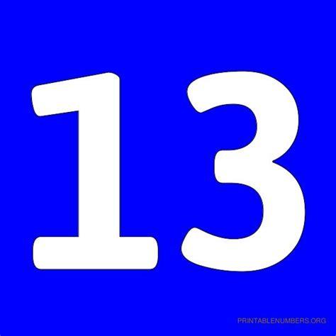 s day number 13 printable numbers 1 50 blue printable numbers org