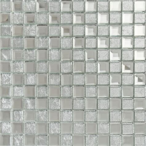 silver mirror glass diamond crystal tile square wall