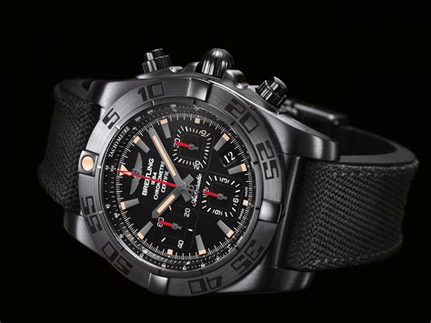 Breitling Black chronomat 44 blacksteel breitling instruments for