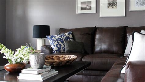 gray living room with brown furniture living room furniture with gray walls modern house