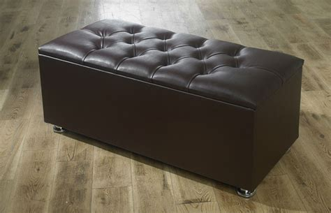New Ottoman Storage Blanket Box In Faux Leather Ottomans With Storage Uk