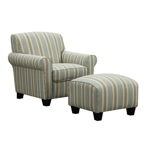 blue striped chair blue striped chair and ottoman custom slipcovers by