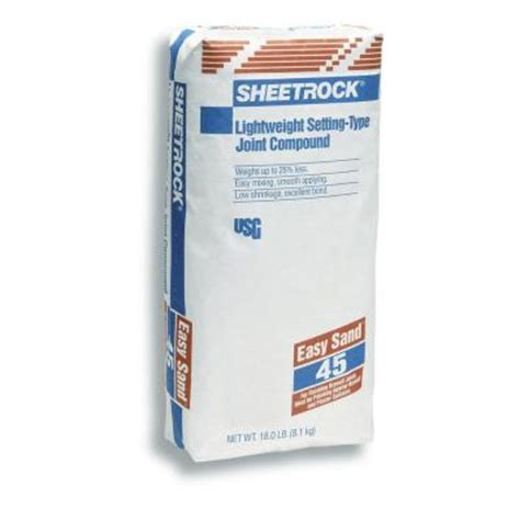 sheetrock brand easy sand 45 lightweight 18 lb setting