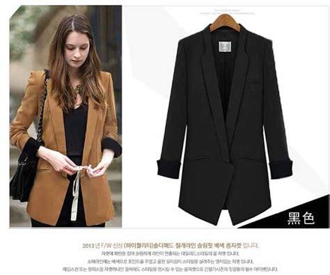 Blazer Panjang Wanita Blazer Panjang Hitam Wanita Trendy Model Terbaru Jual