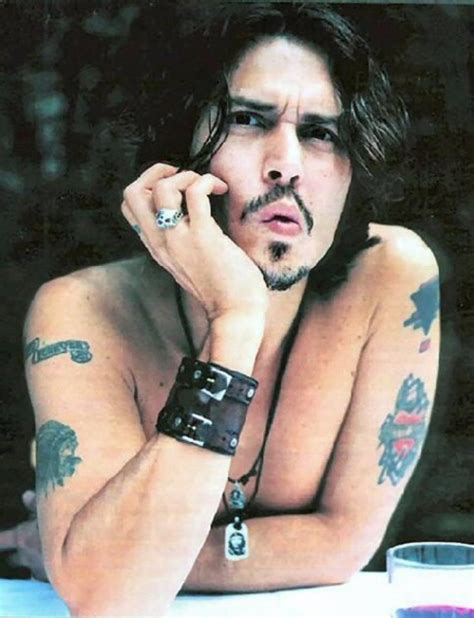 johnny depp tattoo silence exile cunning blog de x celebrity tattoos x page 5 zoom sur les