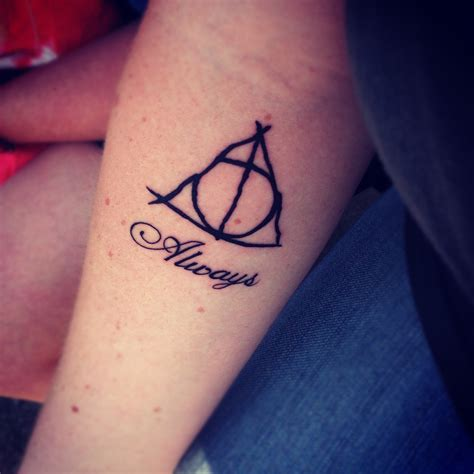 cool harry potter tattoos cool harry porter themed design on inner lower arm