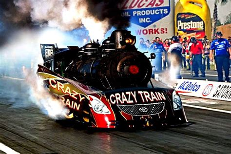 crazy train steam funnycar monster trucks drag racing