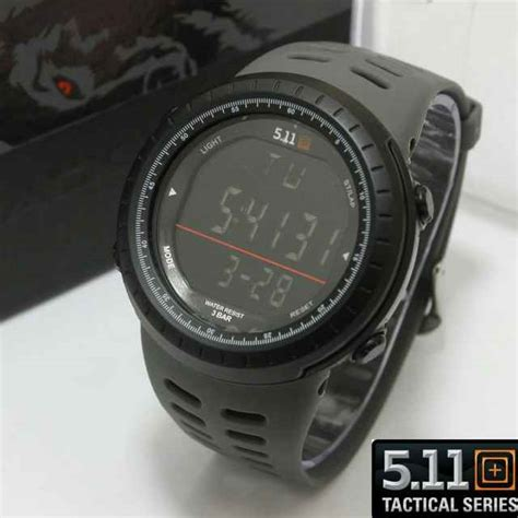 jual jam tangan 511 tactical digital black wolf series