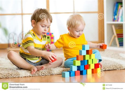 Children Playroom kids playing in children room stock photo image 48775469