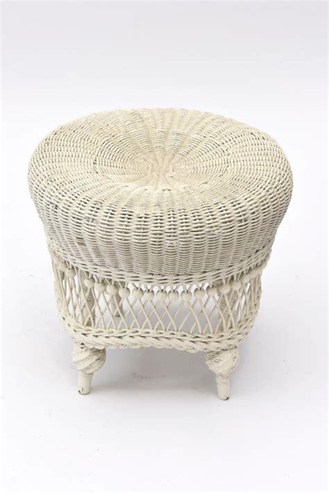 victorian wicker beaded foot stool  stdibs
